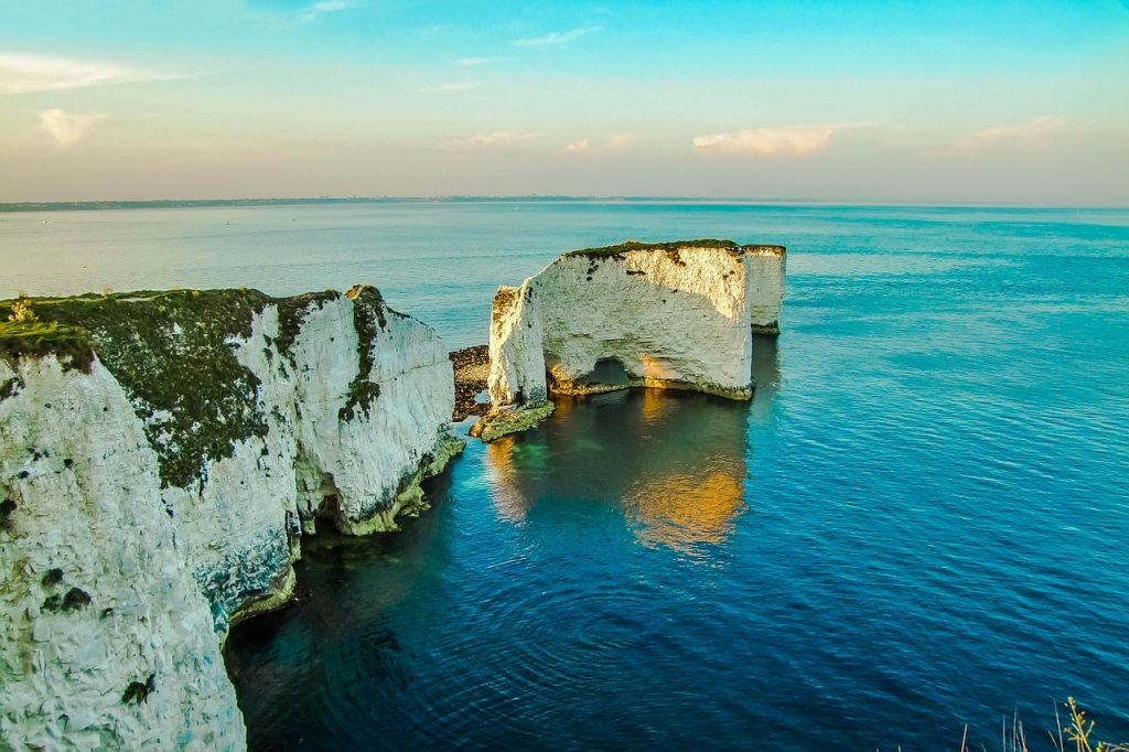 Old Harry Rocks for a Coastal Day out with the family during your stay at Tolpuddle Cottage